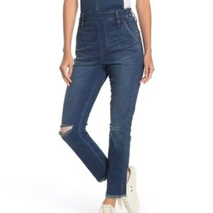 Madewell Distressed Fray Hem Overalls Size M NWT